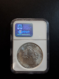 2003 Eagle 1 oz. Fine Silver Dollar US Graded Coin MS69