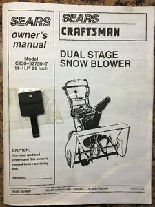 Sears Caftsman Dual Stage 29' Snow Blower