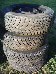195 70 14 hankook winter studed tires with rims