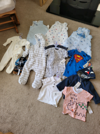 Baby boy clothes bundle 0-6 3-6 months brand new rompers sleep bags