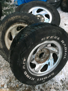 Truck rims with tires 98 an 91 f150 wheels five bolt