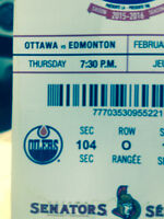 OILERS vs SENS awesome seat!
