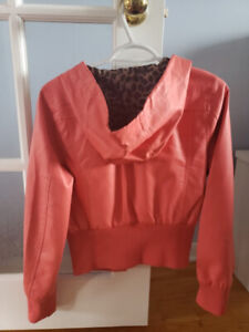 CORAL LEATHERETTE SPRING JACKET NEW