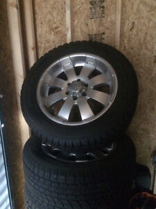 Winter tires on rims 1800 obo Strathcona County Edmonton Area image 1