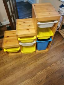 Ikea trofast storage wooden shelves
