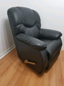 Genuine Leather La-Z-Boy Rocker/Recliner