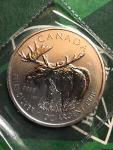 2012 Canada 1 oz Silver Wildlife Series ~ BU Moose