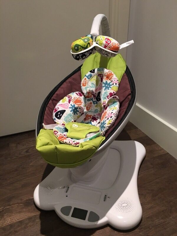 Modern 4moms Mamaroo Baby Swing Chair Green with Newborn Insert Picture - Amazing Mamaroo Baby Swing Simple
