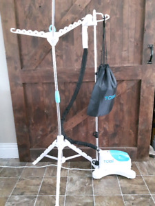 Steam cleaner and hanger- garments and furniture