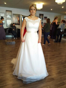 Mikaella Lace and Organza Wedding Dress
