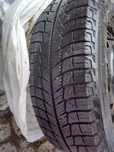 """Michelin XIce Snow Tires with 14"""" Toyota Corolla Steel Rims"""