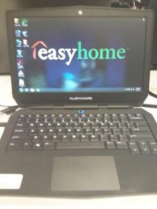 """*** USED *** DELL 13"""" DELL ALIENWARE LAPTOP   S/N:7MK6T32   #STORE614"""