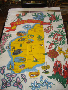 VINTAGE TABLE CLOTH (WESTERN AUSTRALIA) # 5