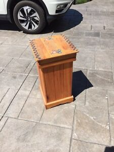 Wooden Country Garbage Bin**NEW PRICE