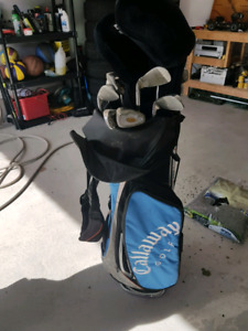 men's RH top flight extreme golf clubs with Callaway bag