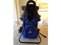 Vaude padded child carrier and stand