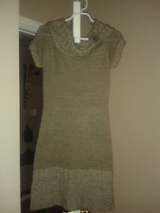 knitted long dress sweater size small