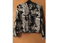 Ladies patterned bomber jacket