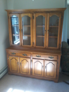 MOVING SALE - SOLID MAPLE BUFFET AND HUTCH