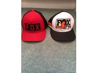 2x fox mountain bike baseball caps