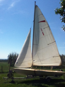 Handmade 16 foot two(+) person sailboat for sale