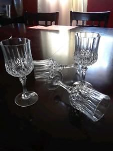Crystal wine glasses set of 4 $15 or best offer
