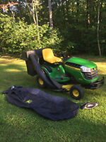 John Deere D130 lawn tractor with lots of extras