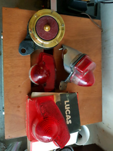 TRIUMPH VINTAGE PARTS LOT SOME NOS NEW OLD STOCK