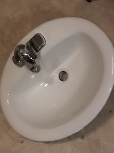 Round Sink with Tap Included