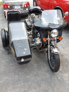 1980 750 Honda Custom with Sidecar