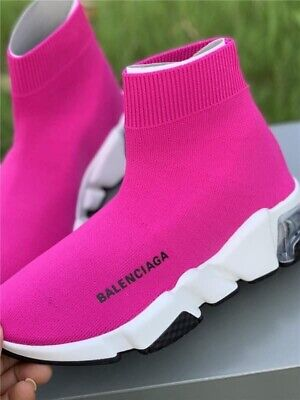 Balenciaga Sneaker Shoes Pink 38 New Women's Training Shoe Black 39 Speed Sock