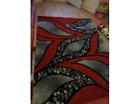 Beautiful Red and Black LARGE Rug for sale