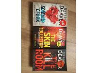 3 Jeffery Deaver books £1 collect Angel N1