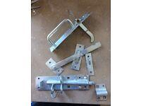 Gate latch and bolt