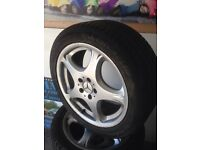 "Genuine mercedes 18"" alloy wheels 5x112"
