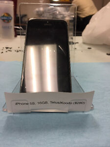 iPhone 5S 16GB, $250, Works With Telus/Koodo