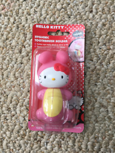 New in package Flipper Hello Kitty Rabbit Toothbrush Holder