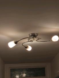 3 ceiling light fittings