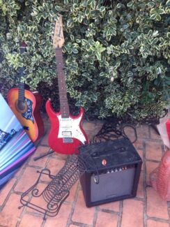 Electric Ibanez guitar and amplifier  Milperra Bankstown Area Preview