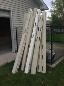 vinyl horse fencing, boards and posts 16'
