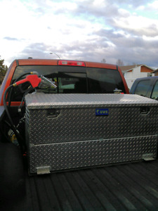 Combo fuel tank and toolbox