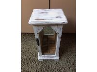 White Wooden Shabby Chic Jewellery Display Box - wardrobe style