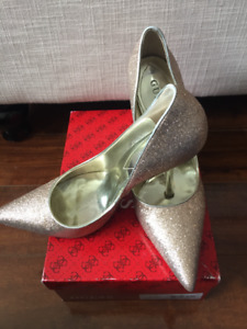 Gold High Heel Shoes 10M Guess