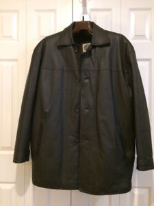 Mens Leather Coat with Liner