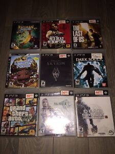 Playstation 3, 150gb, 9 jeux