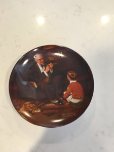 """Norman Rockwell """"the Tycoon"""" collector plate"""