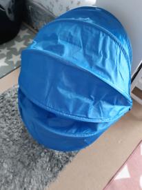 IKEA blue children's egg spinning chair