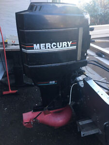 17 ft aluminum boat with115 mercury outboard