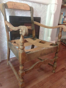 Antique chair frame for reupholstery