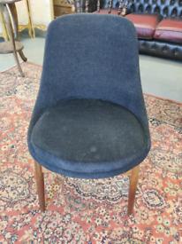 Retro Teak & Fabric Office Chair